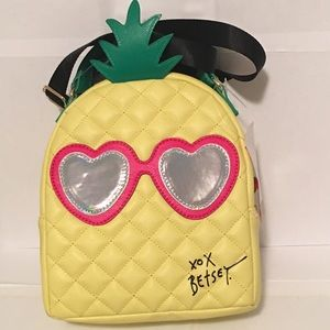Betsey Johnson Bags - Betsey Johnson Pineapple Lunch Tote Yellow Green